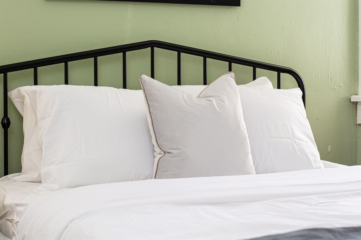 2 Memory foam mattresses in the bedroom for a great night's rest!  Fresh linens for each stay.