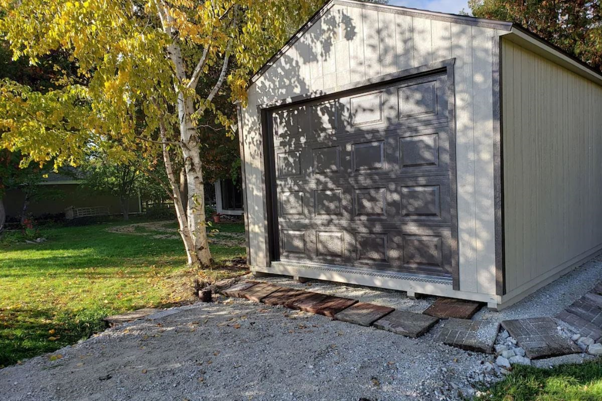 The shed where we keep the kayaks and other outdoor gear!