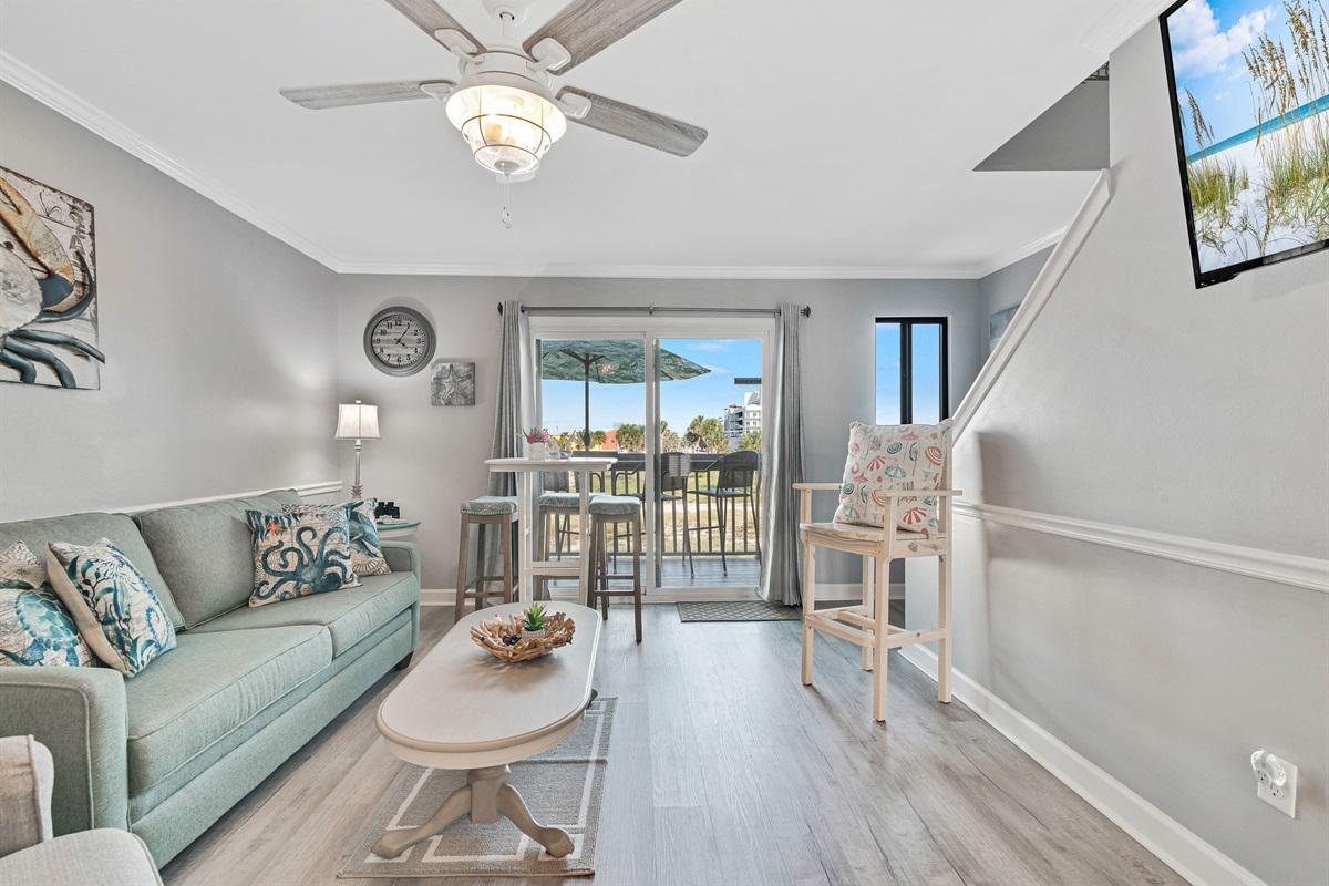 Living Room w/ Balcony Access