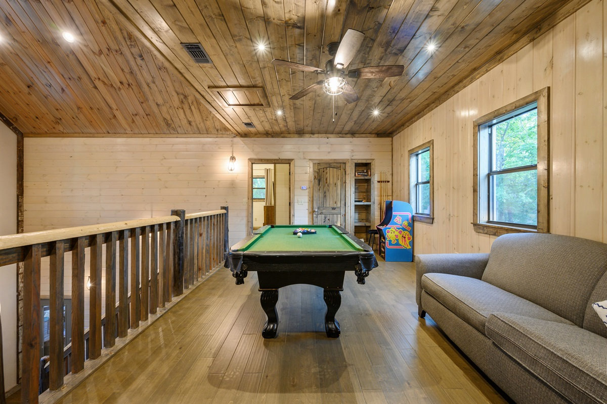 Loft also has a gaming console and board games in addition to the pool table and PlayStation 4