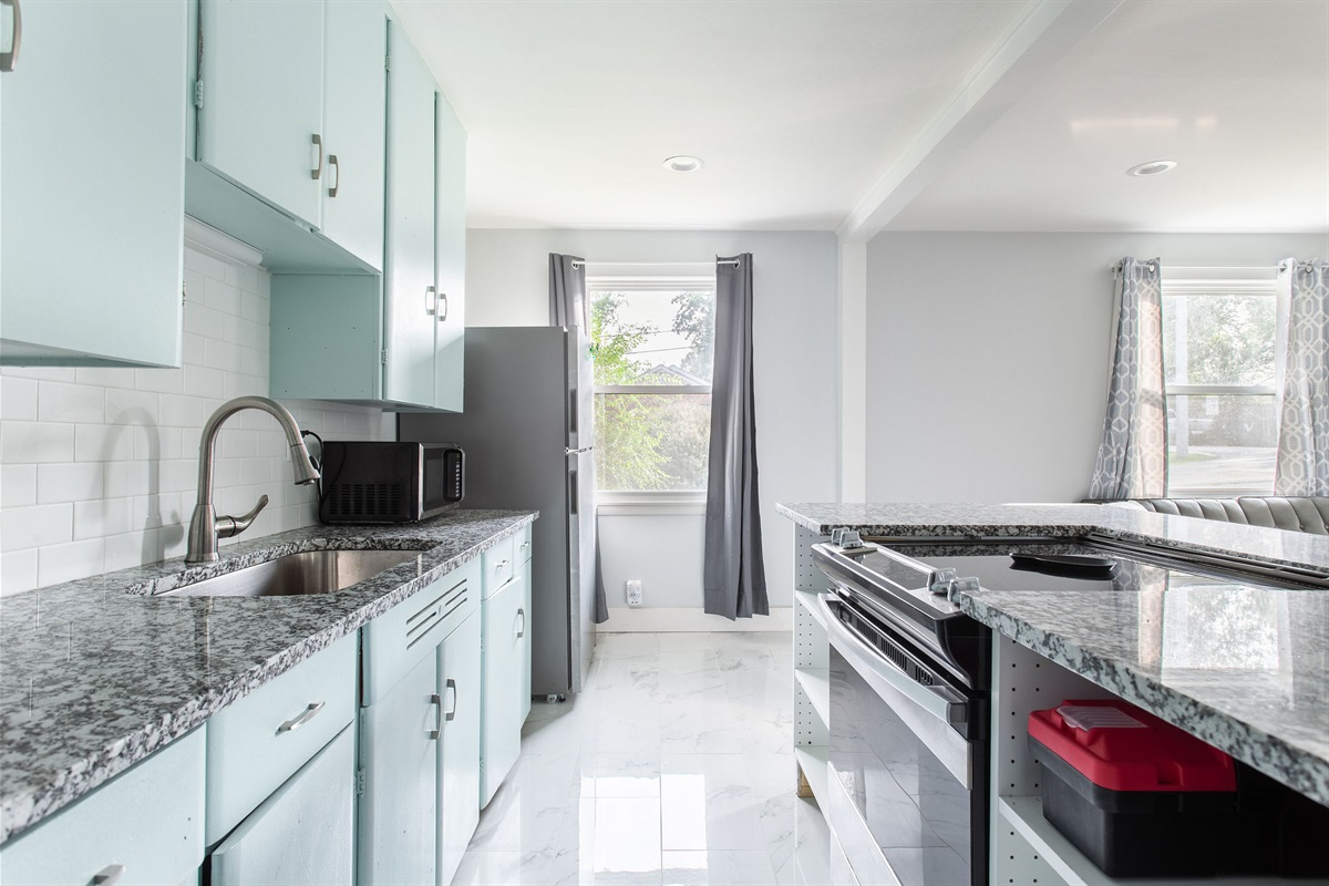 Enjoy your fully stocked kitchen