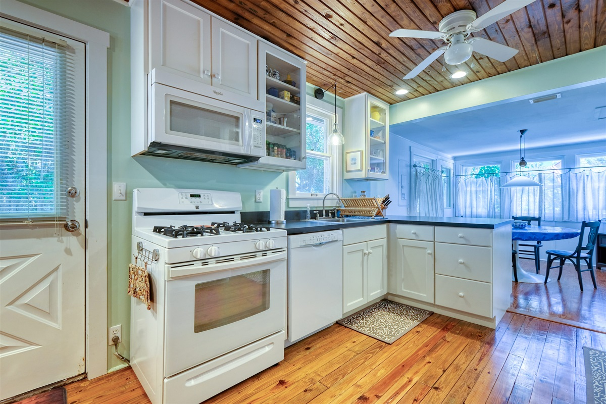 Kitchen View with Gas Range/Oven