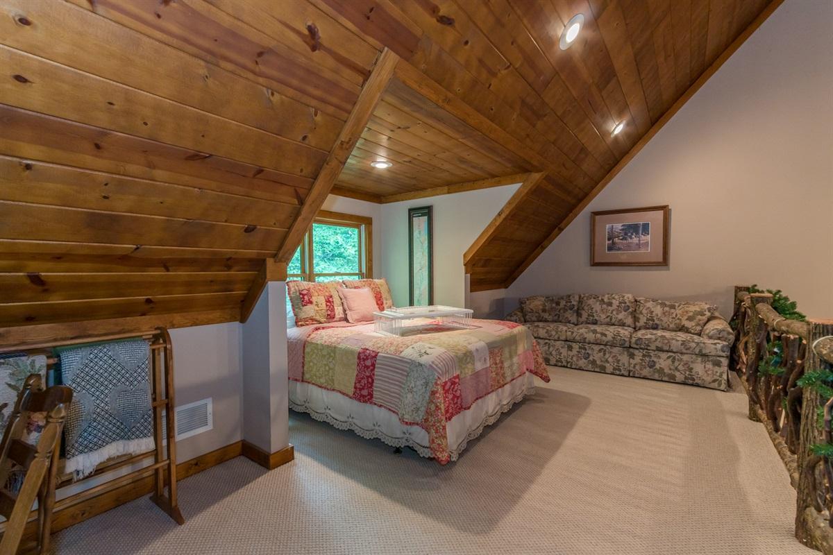 Upstairs Queen Loft Bed