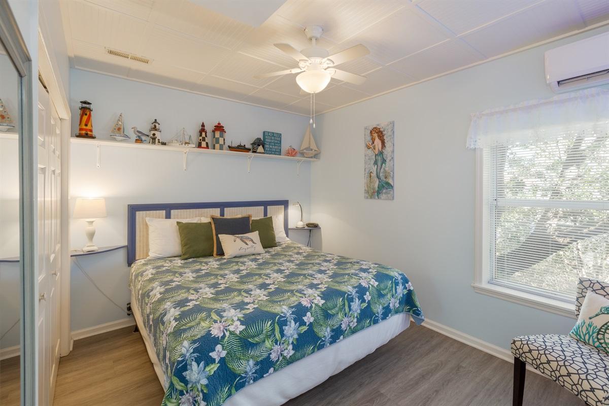 King bed in bedroom area