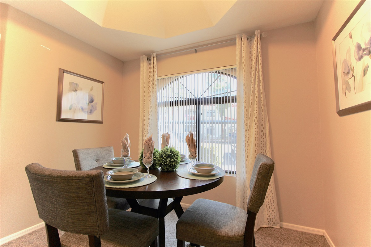 Dining area-seating for 4.