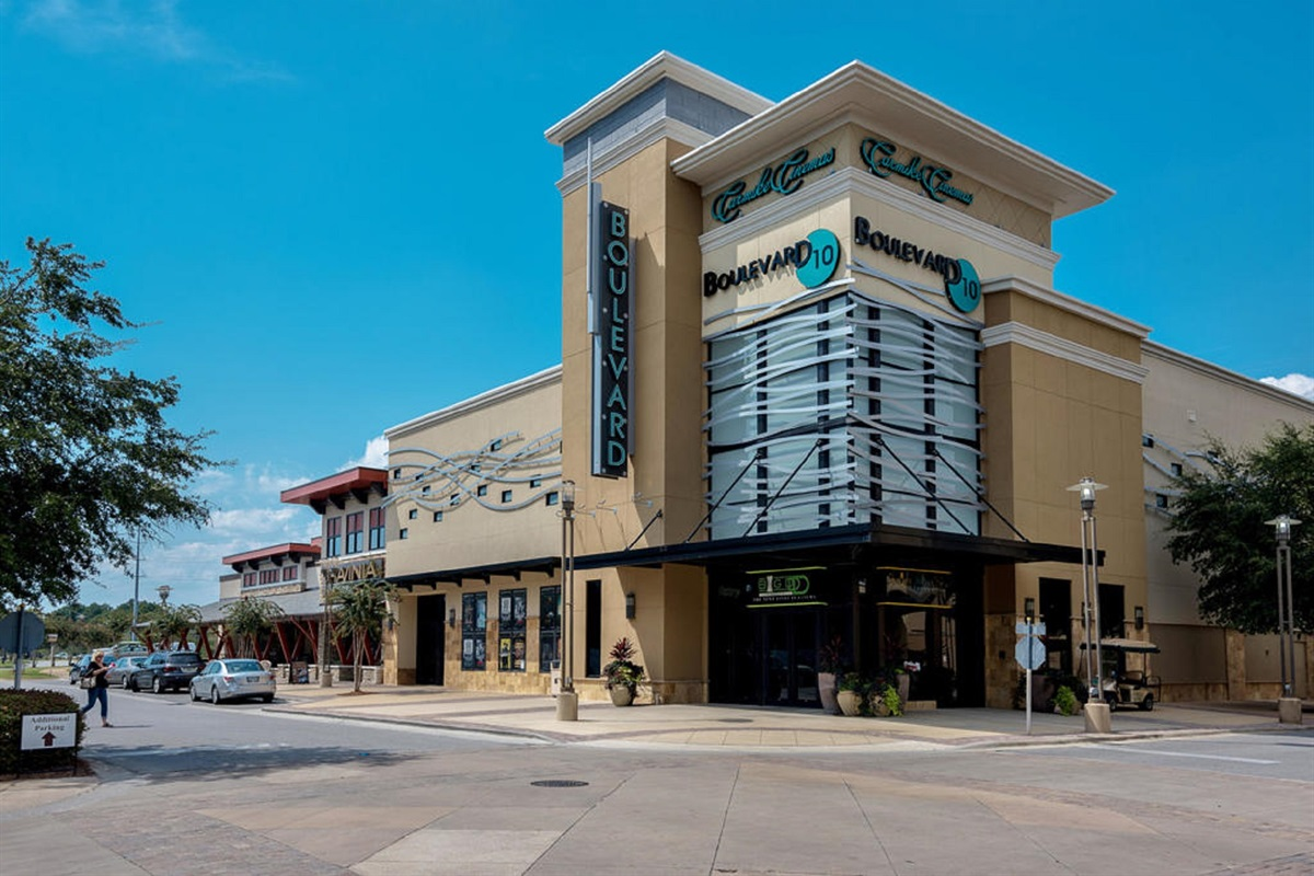 Movie Theater and Expensive Brands at the nexdoor complex next to Publix a mile away.