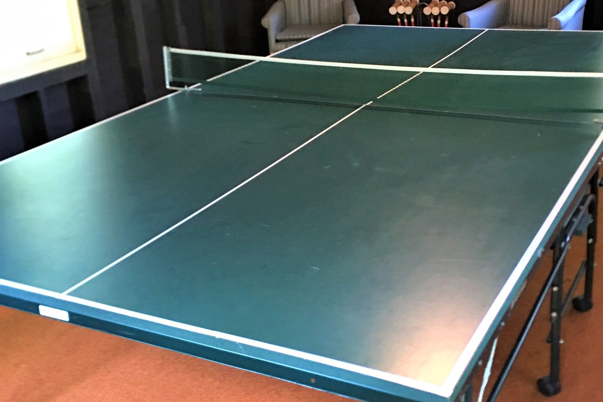 Ping Pong in the Bunkhouse!