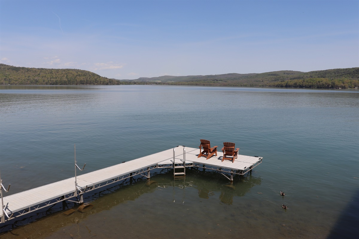 Sit and relax on the dock overlooking majestic Lake Otsego.
