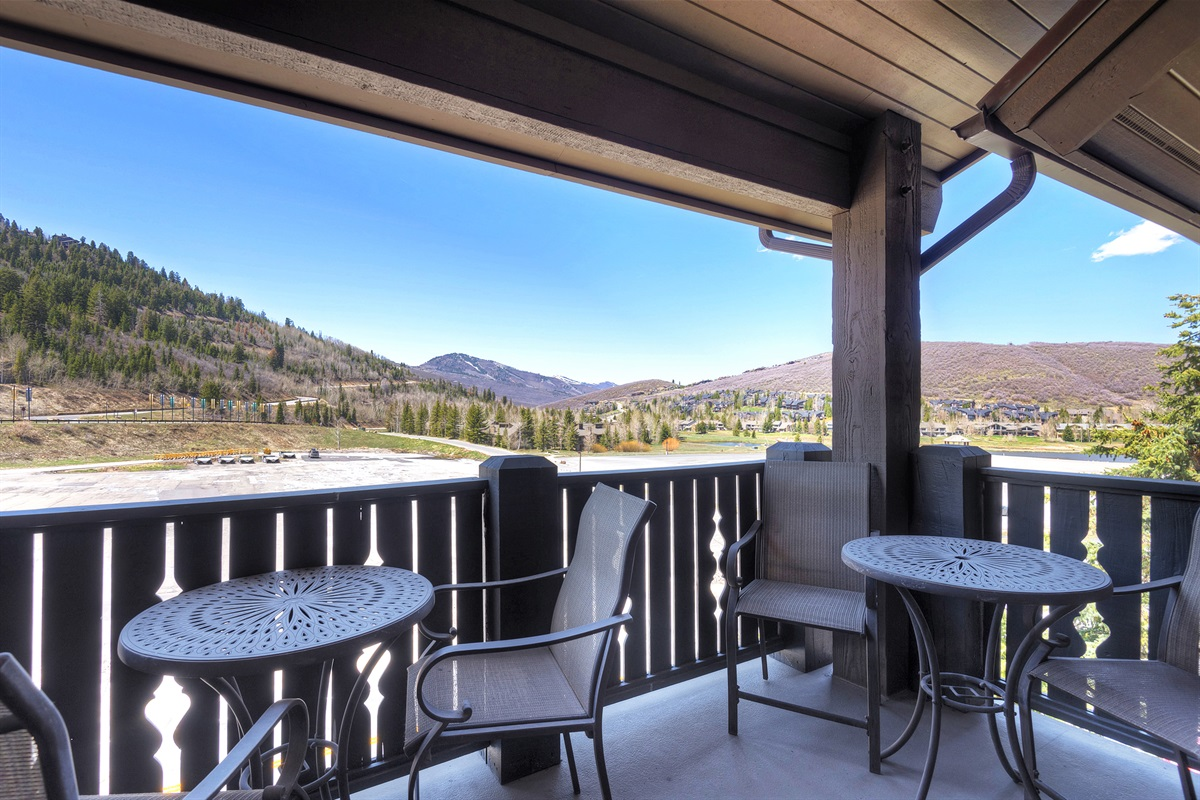 Private deck with views of Deer Valley