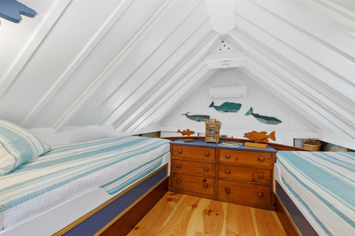 """Built-in """"First Mates"""" & """"Deckhand's"""" bunks serve as berth's for your sailing crew! The influence of the naval architect/sailboat designer that founded & built the compound is evident throughout all of the individual buidings at this compound."""