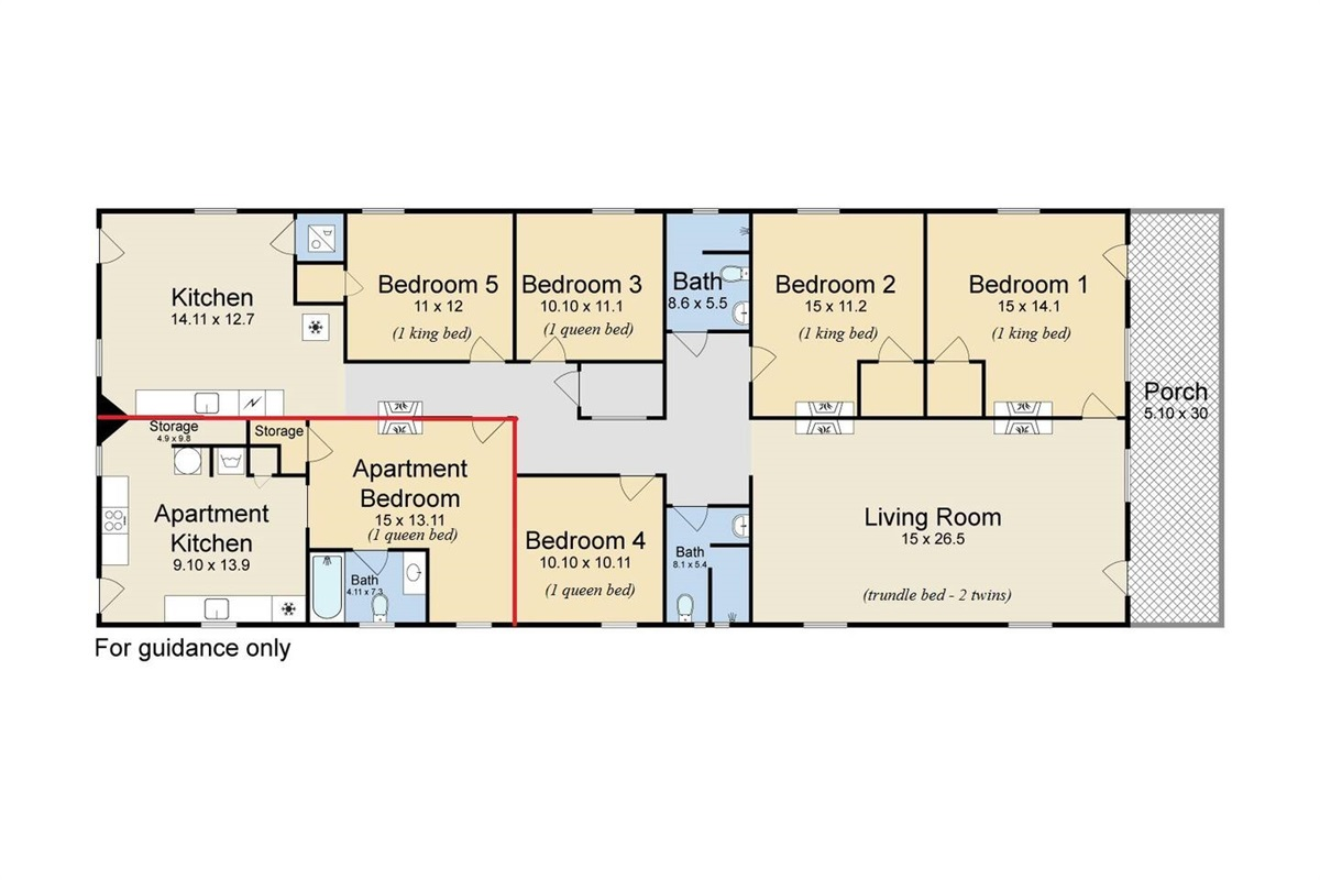 Main house plus additional apartment.  Apartment NOT INCLUDED in this listing. Ask for details to add it.