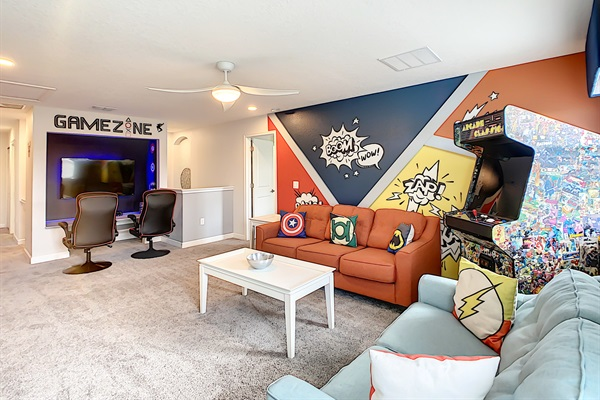 """Play Video Games On 55"""" Television With A PS4 In The Game Zone"""