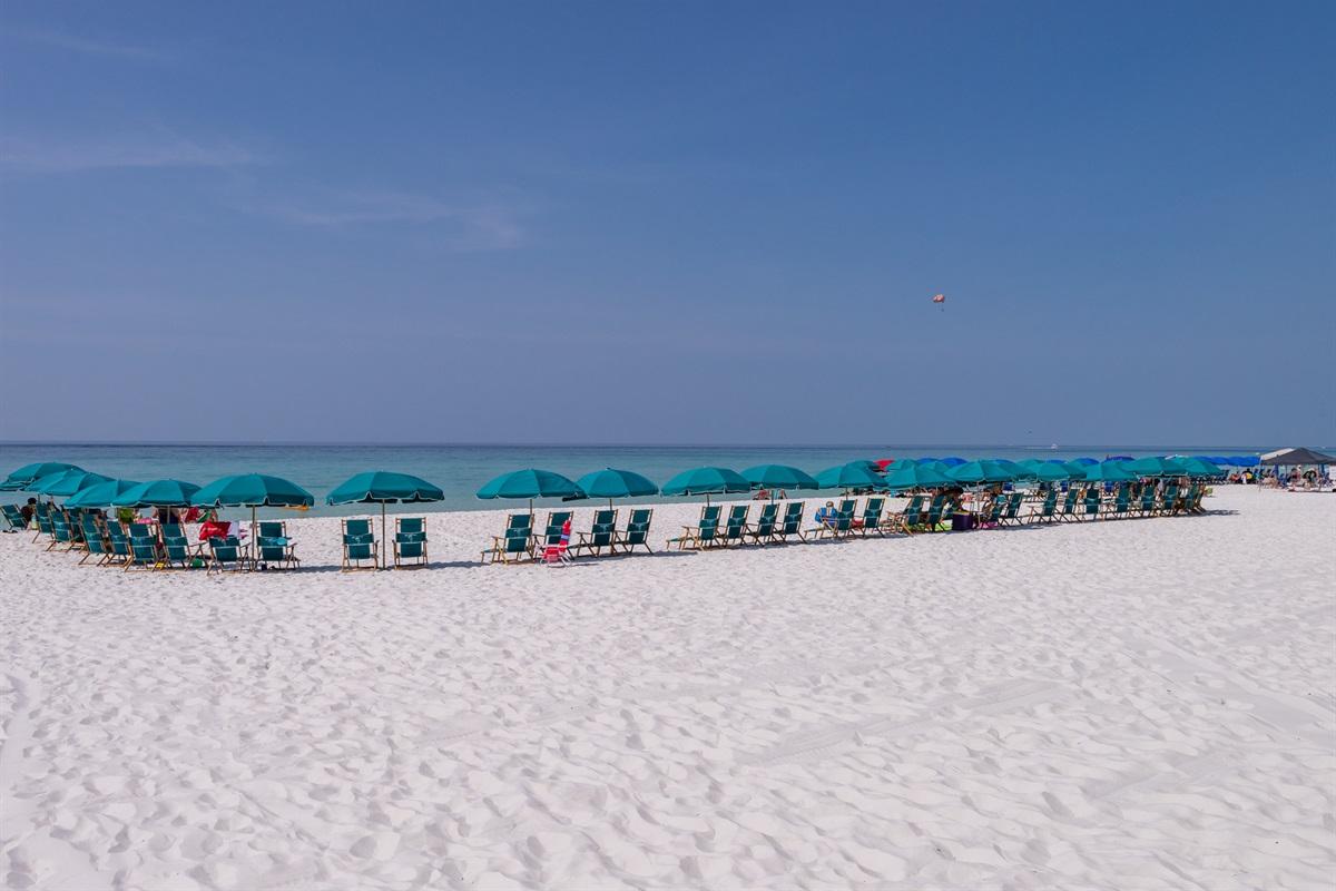 On-site beach chair service vendor