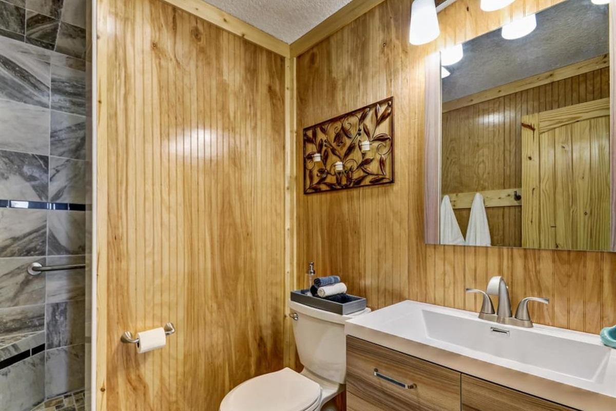Bathroom with HUGE Shower