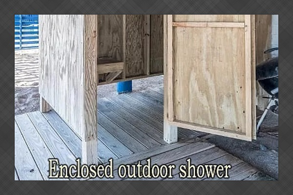 Hot/Cold outdoor shower