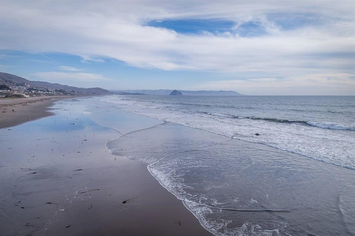 Sandy stretch of beach