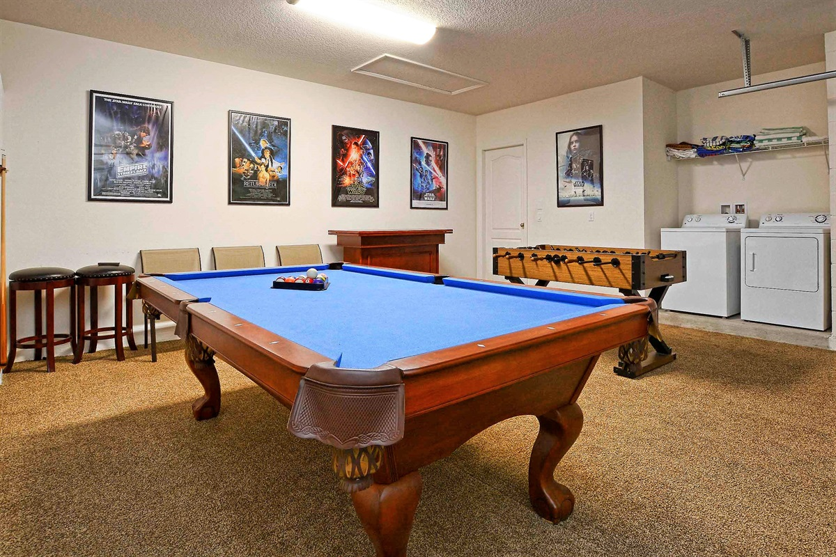 With pool table...