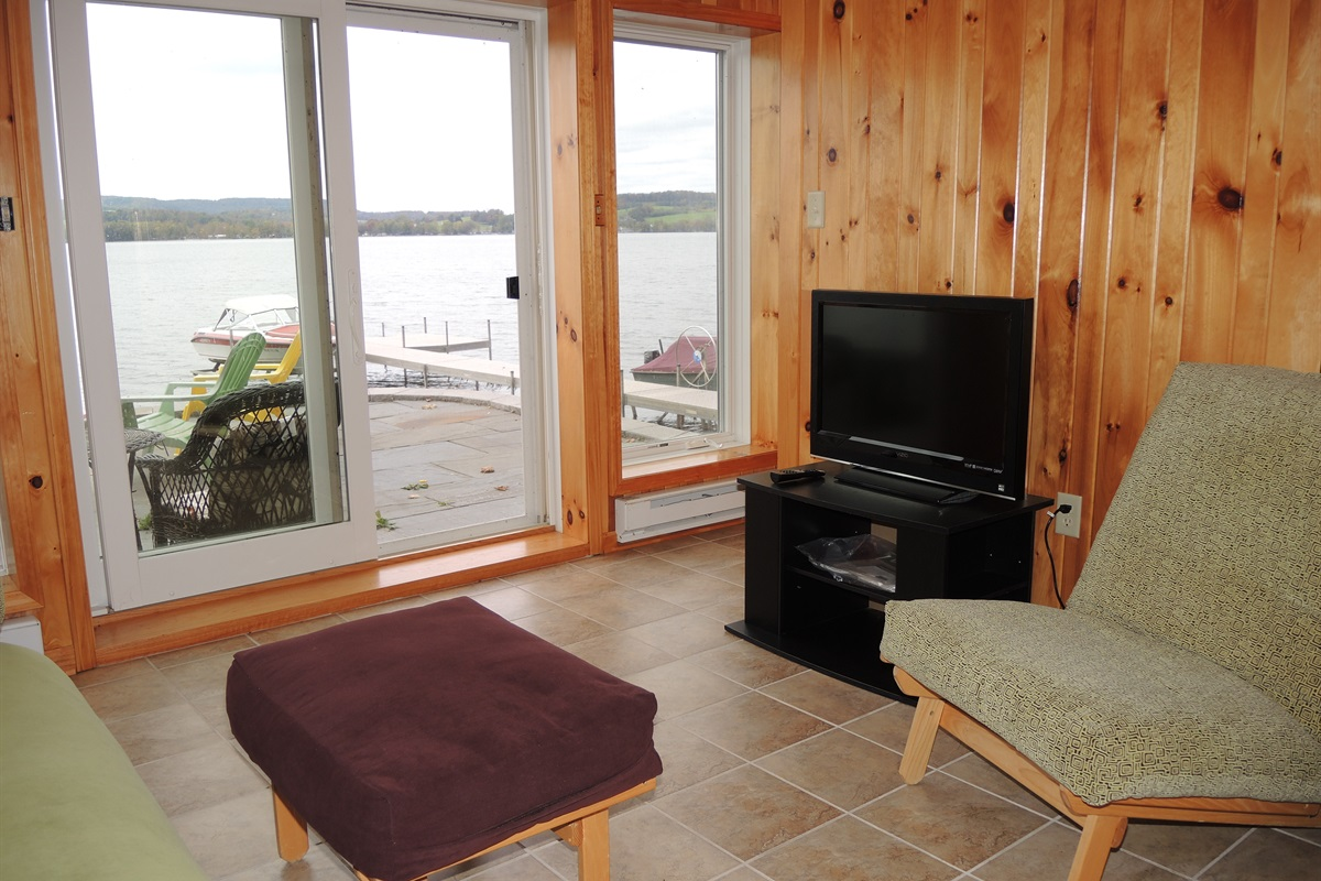Living room, walk out to patio and lakefront