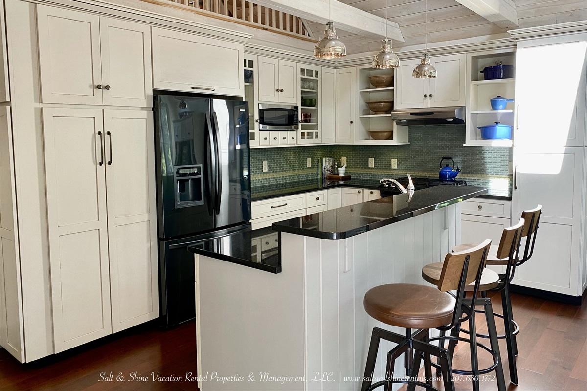 Dishwasher located in island