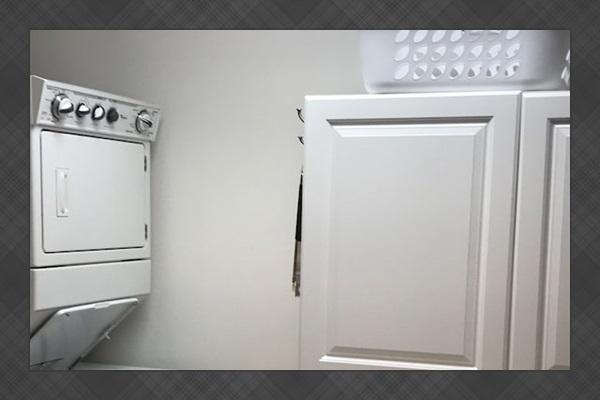 Laundry room and plenty of pantry storage