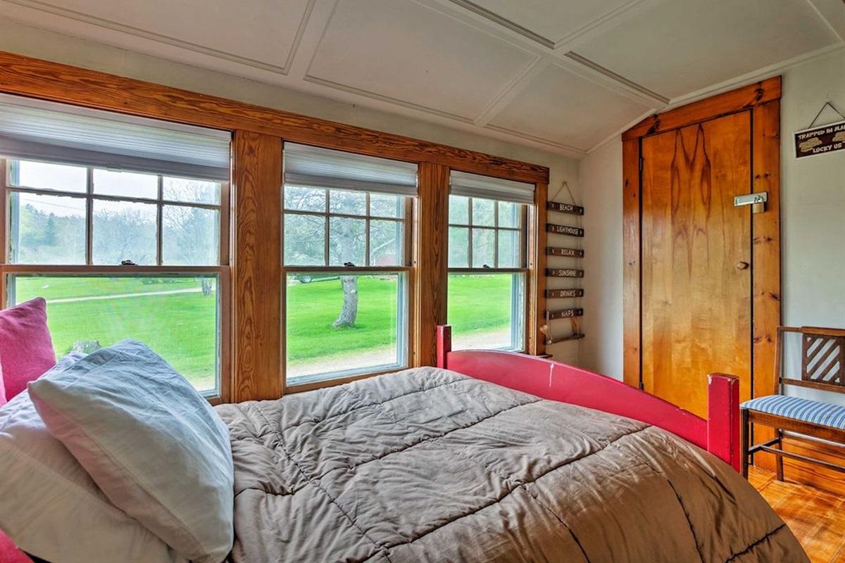 First floor double bed