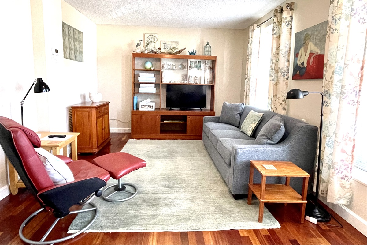 Comfy living area, Cable TV