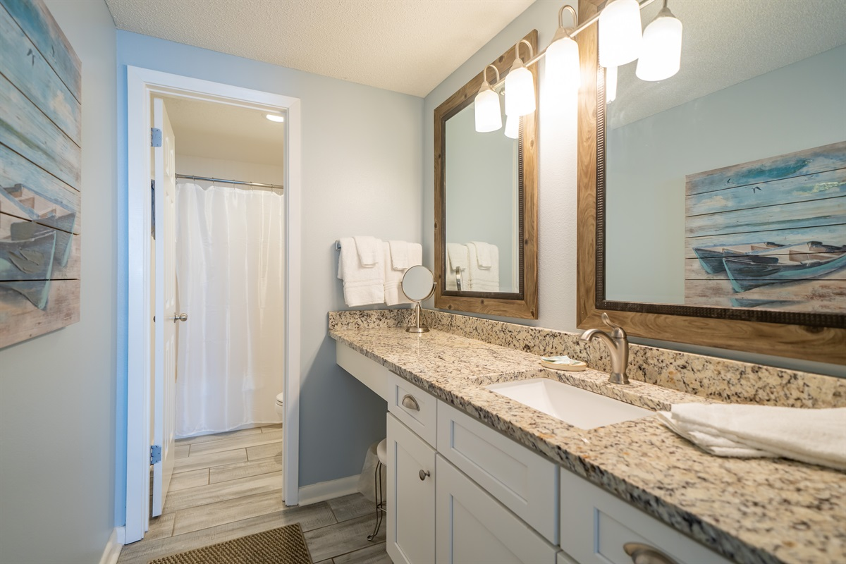 Master bedroom dressing area & bath.