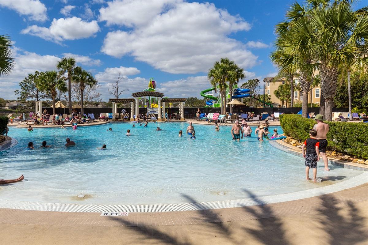 Huge Zero Entry Lagoon Pool