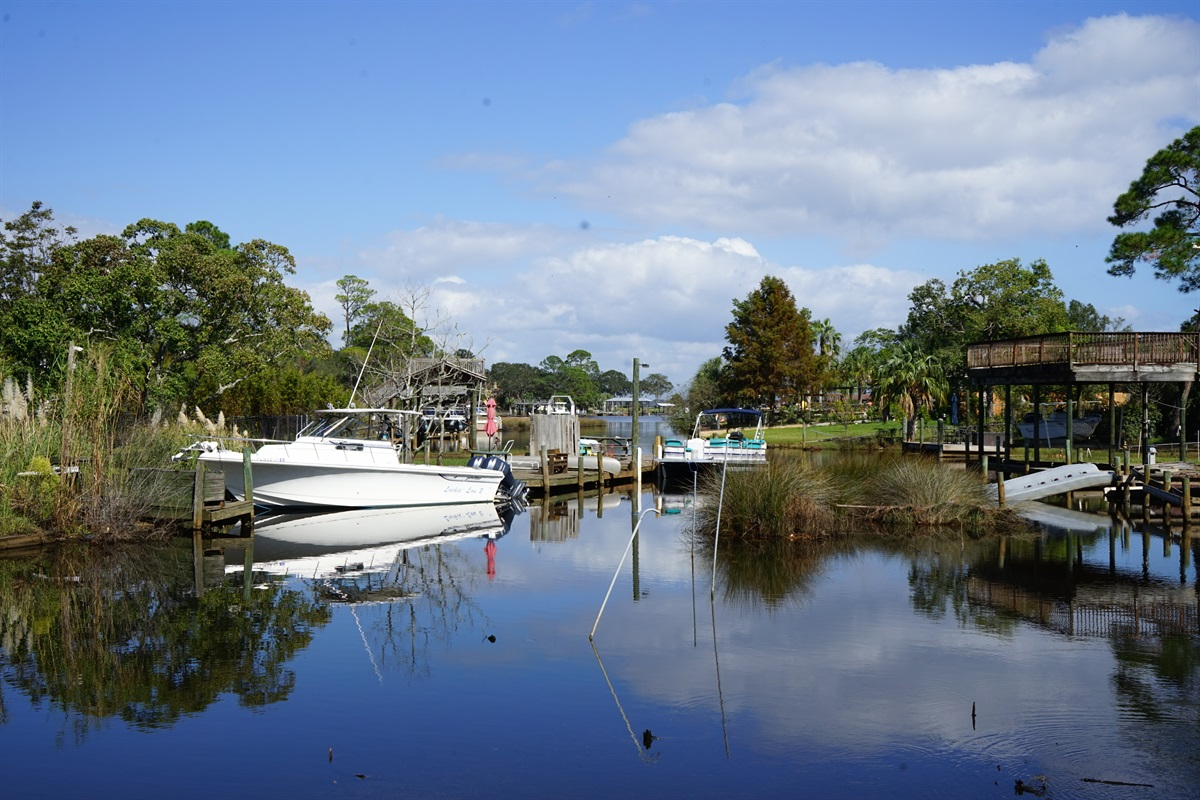 Canal to Lake Earl Leading into the Choctawhatchee Bay