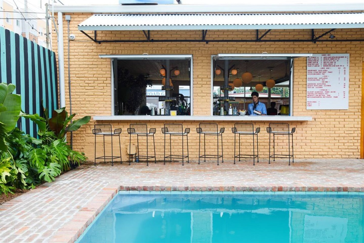 Pool & bar next door. Free access included with stay.  ©The Drifter Hotel
