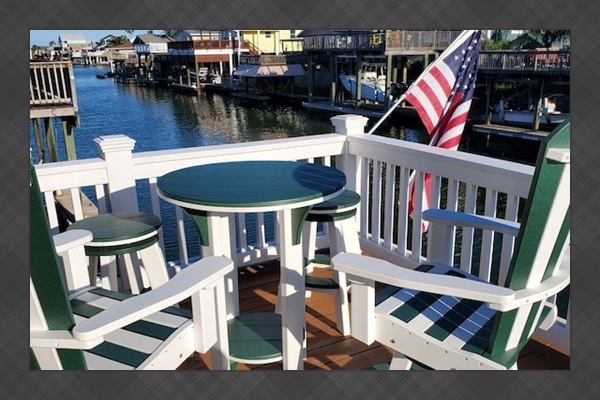 Bar height table - outdoor dining