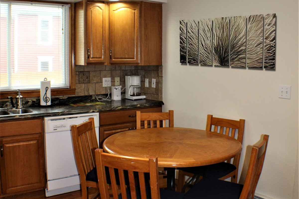 Dining area in the eat-in kitchen