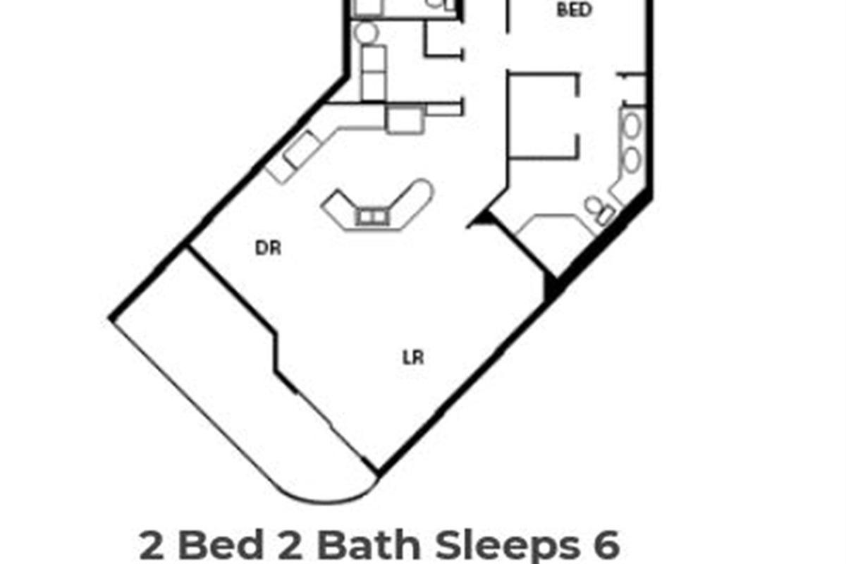 Floor plan of condo.