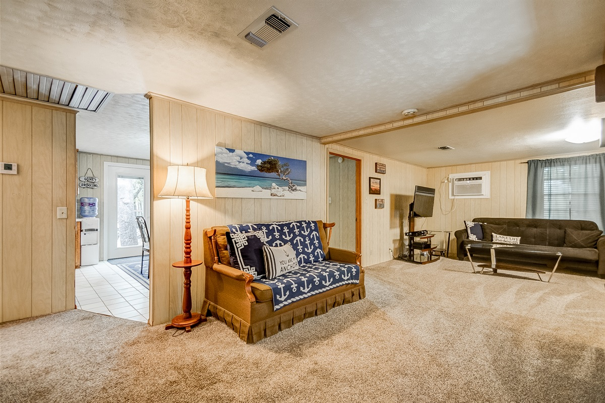 Large, open living room, main level