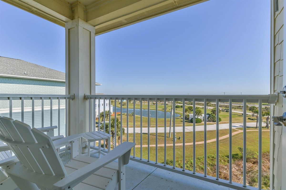 Gulf View From Master Bedroom Deck