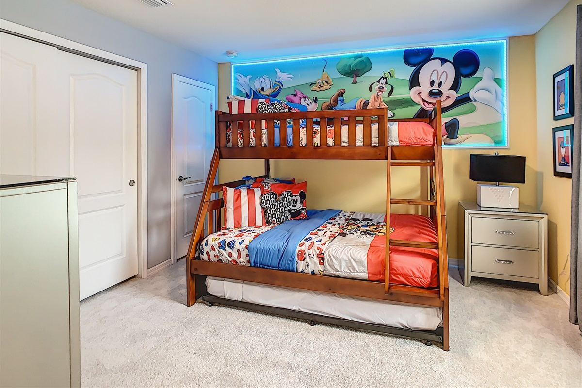 Bedroom 4-2nd Floor-Bunk Bed (Twin On Top-Double On Bottom-Trundle Under)