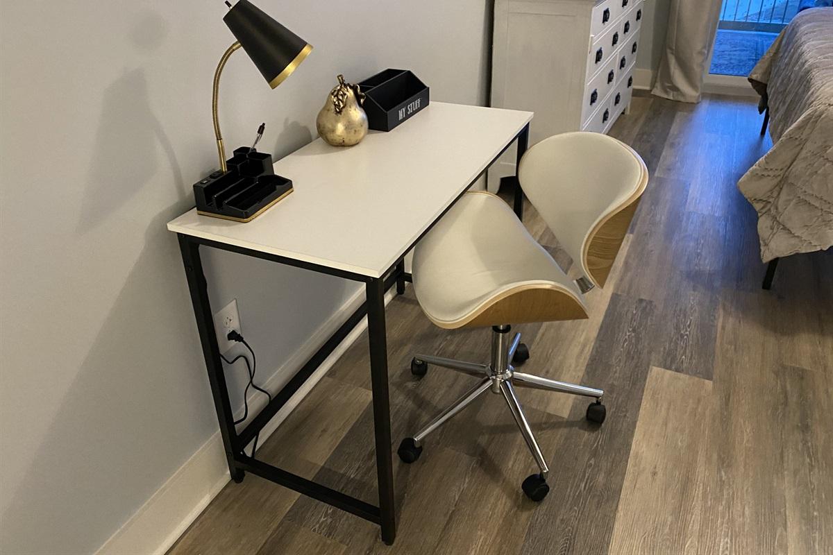 Work space in master bedroom