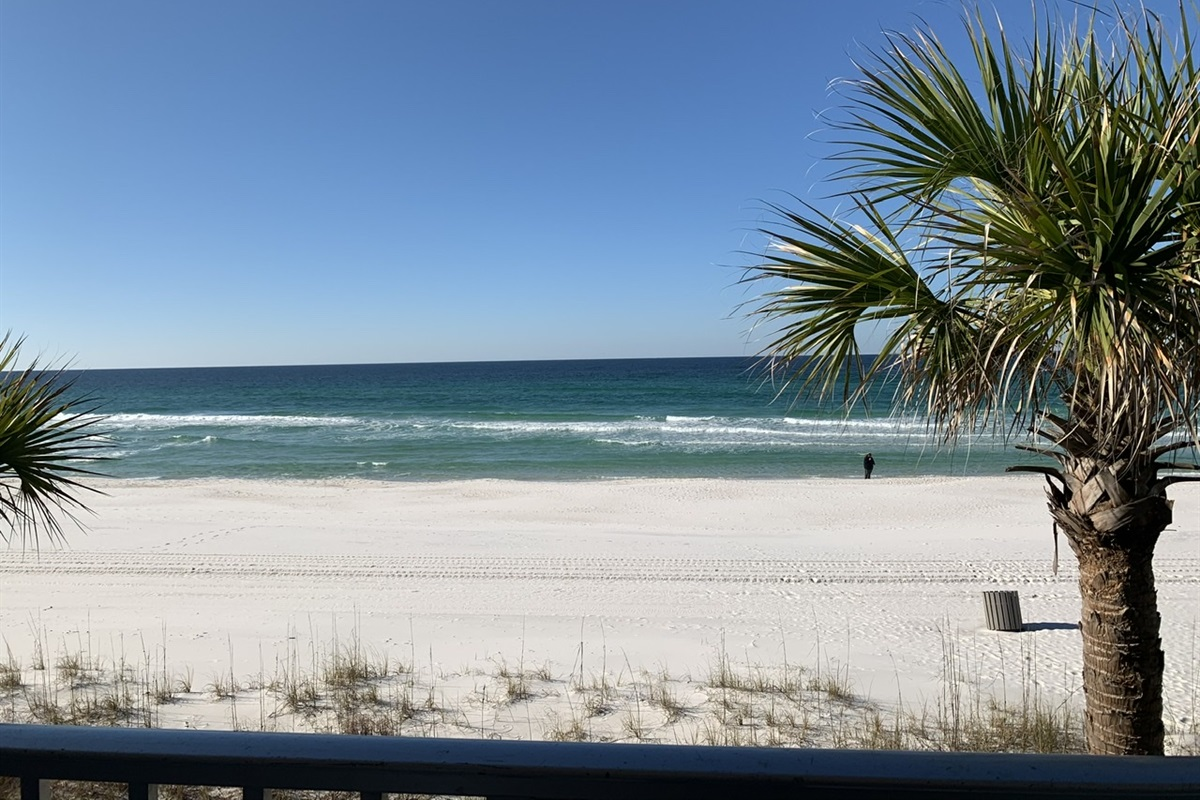 This is your view from the table on the balcony!