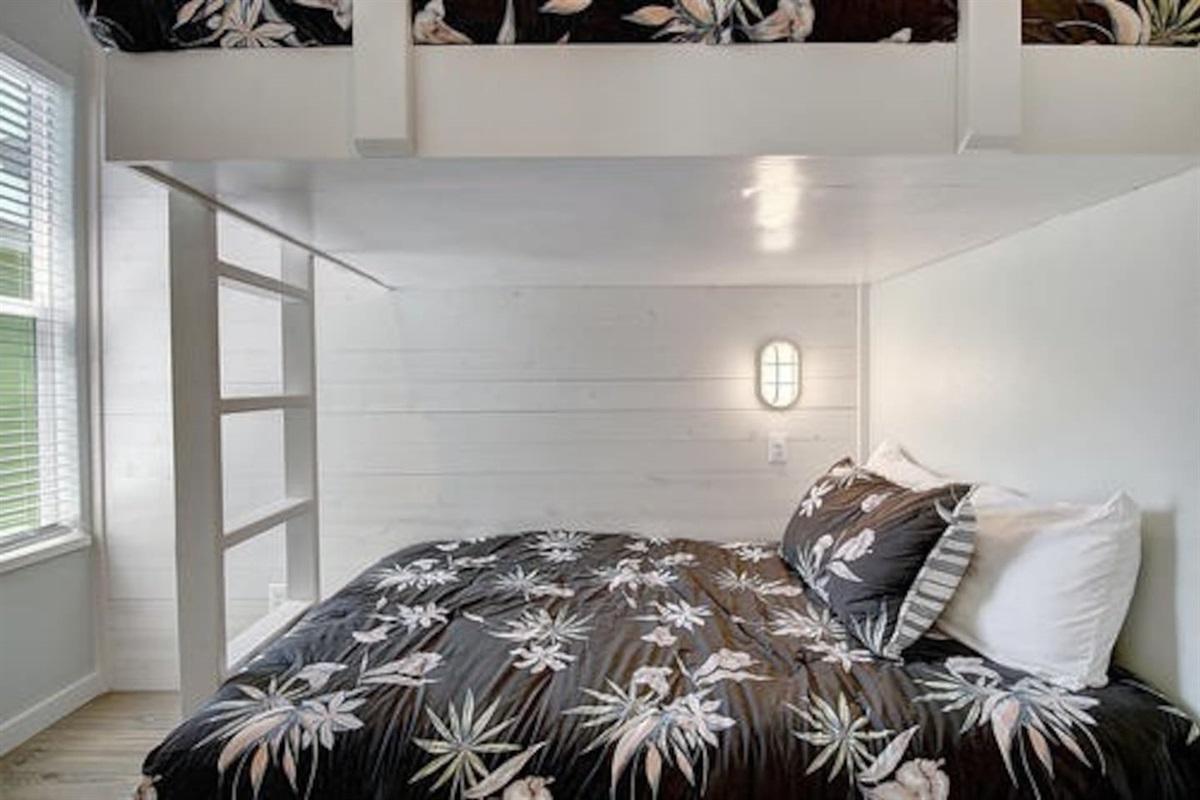 2nd Room - Full over full bunk