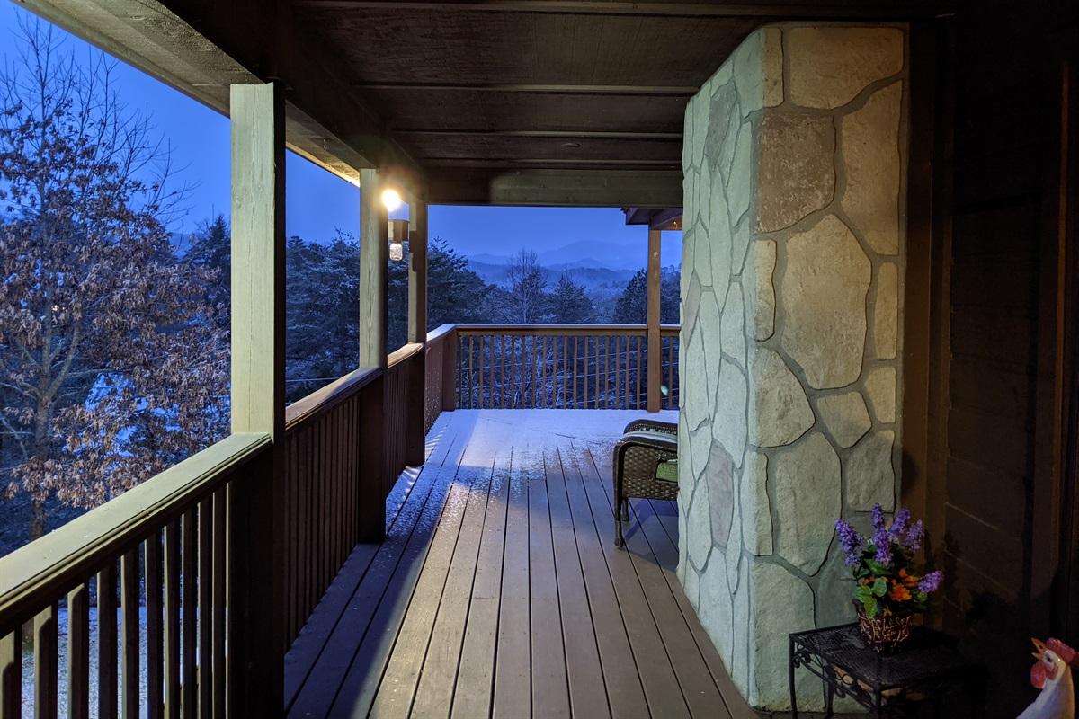 Wrap around deck in snow