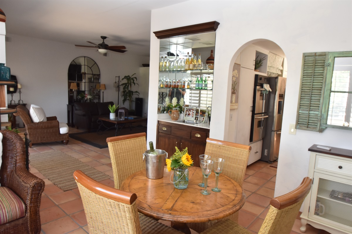 small dining area off den