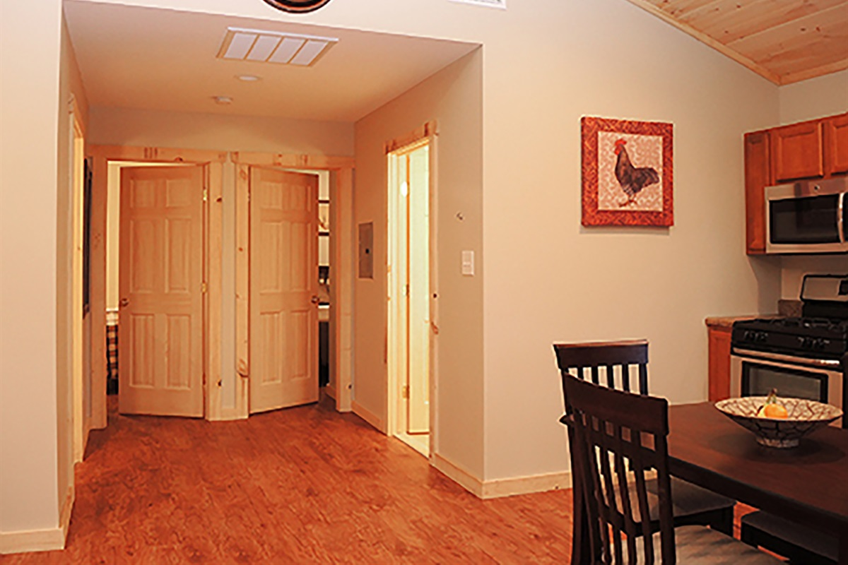 Entrance to Bedrooms/bathrooms