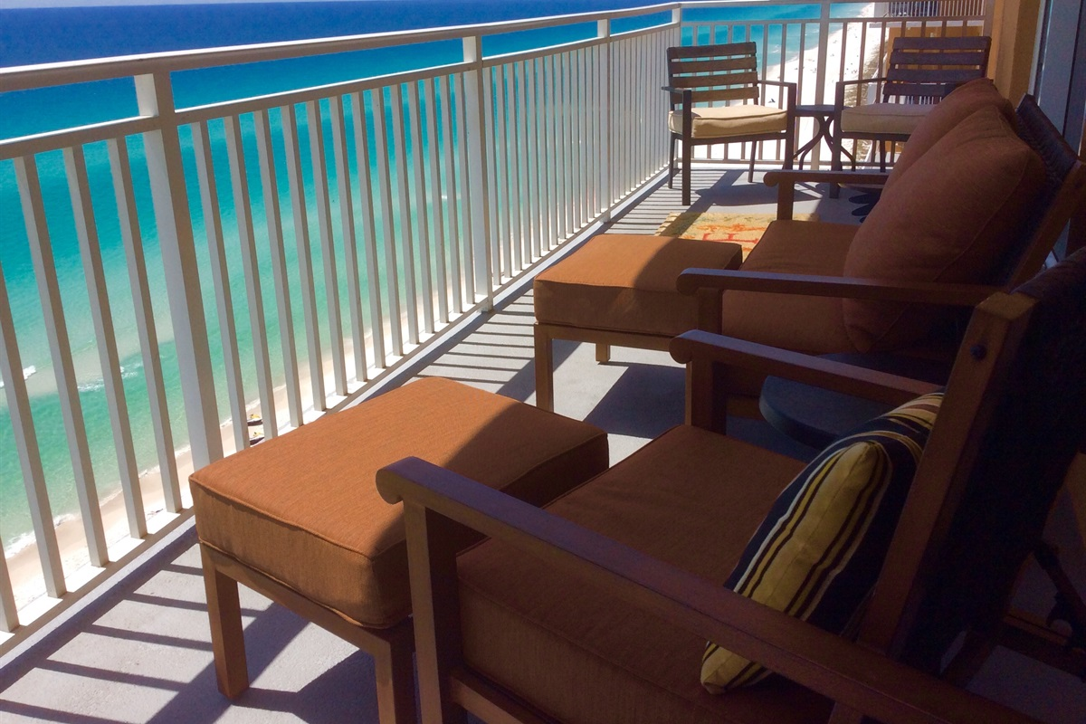 Comfortable balcony seating