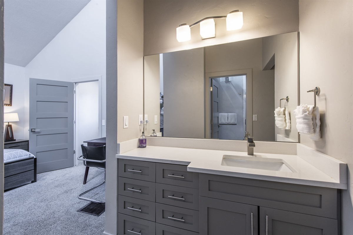 Master bathroom (vanity area)