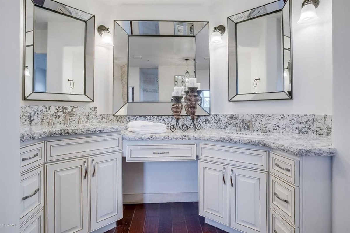 Glamorous Vanity in the Master Bathroom