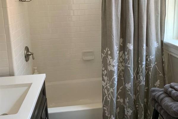 Shower, bath combo