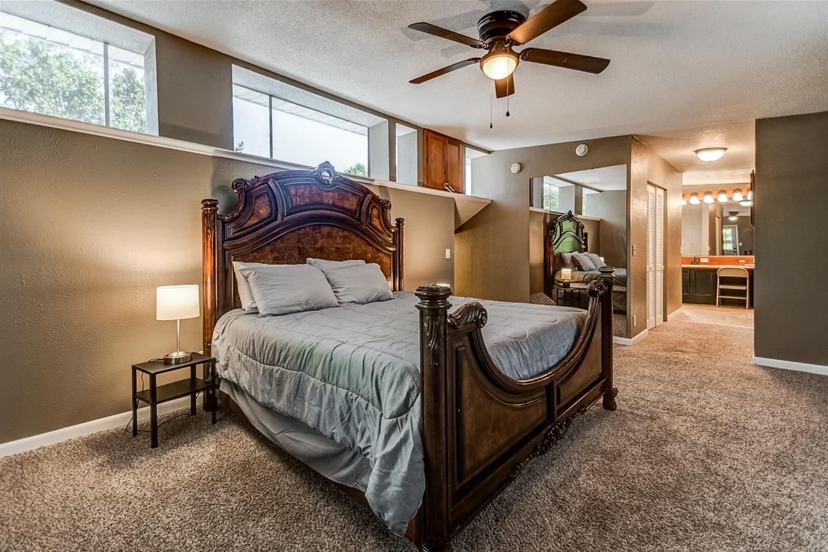 Master Bedroom, 3rd floor (includes access to 2nd floor deck!)
