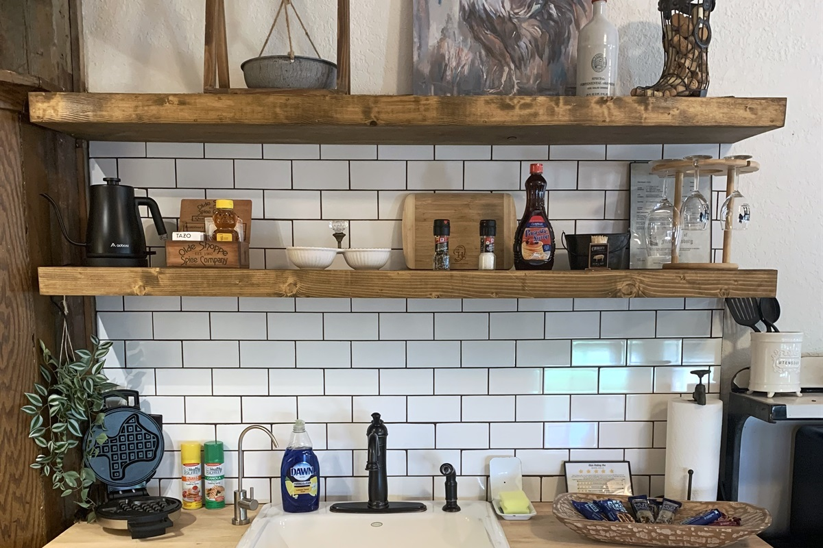 Separate kitchenette in Barn Haus