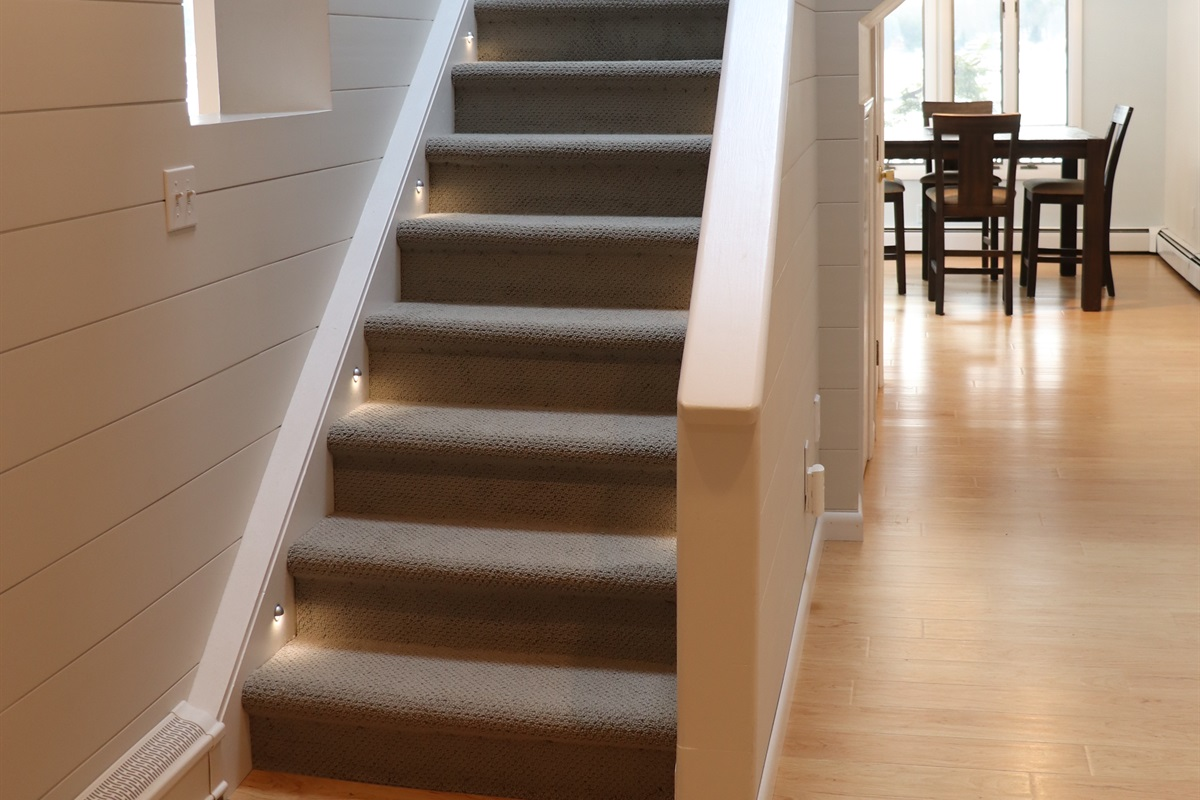 Main Entry way - stairs leading to west wing upstairs.