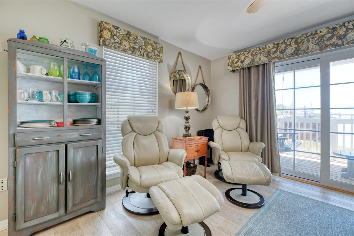 Recliners in the living space